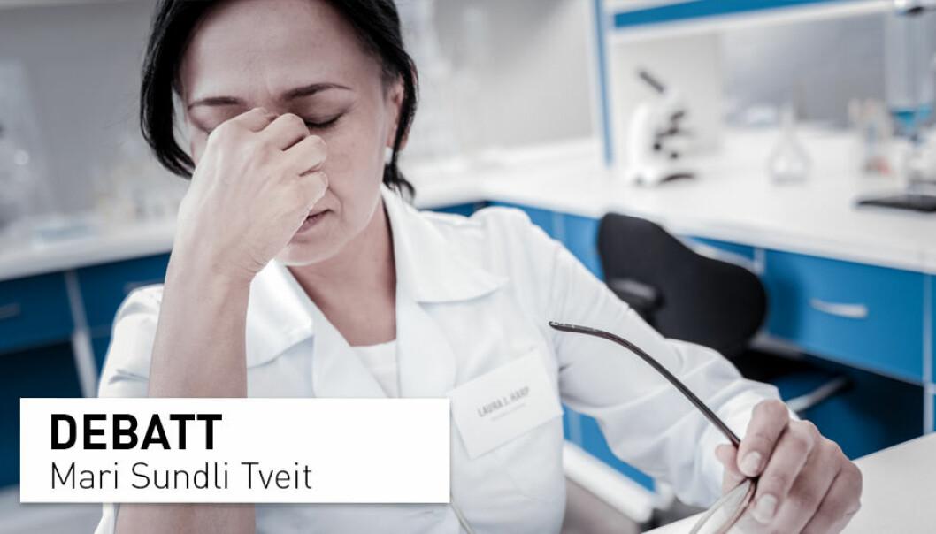 Forskningssektoren i Norge er ikke tilstrekkelig finansiert til å bygge kapasiteten, kompetansen og kvaliteten som trengs for å løse de store samfunnsutfordringene vi står over for i dag, skriver Mari Sundli Tveit, administrerende direktør i Norges forskningsråd.