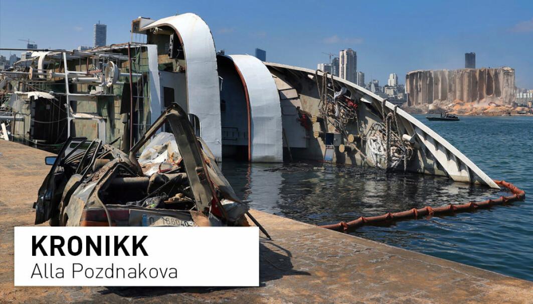 Den katastrofale eksplosjonen i Beirut havn i fjor føyer seg inn i rekken av katastrofer som har samme fellestrekk: De involverer skip som seiler under bekvemmelighetsflagg. Søkelyset bør kanskje rettes mer mot eierens hjemland, skriver professor Alla Pozdnakova.